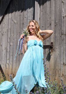 Free Blond Girl With Summer Flowers Stock Photography - 18210312