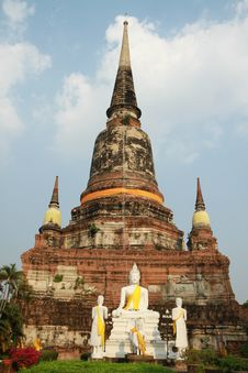 Free Wat Yai Chaimongkol, Ayuthaya, Thailand. Stock Photography - 18210512