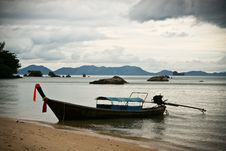 Free Seascape With Boat Royalty Free Stock Image - 18211386