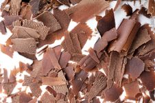 Free Chocolate Cake Flakes Royalty Free Stock Photography - 18211407