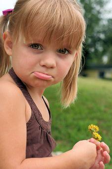 Free Pouty Girl Stock Image - 18211461