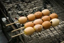 Free Egg On Grill Stock Photography - 18211722