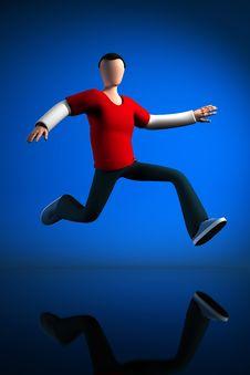 Free Jumping Guy Stock Image - 18212861