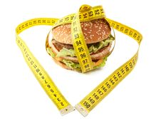 Free Cheeseburger And Centimeter Stock Photography - 18213352