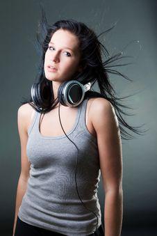 Free Girl Enjoys Music Royalty Free Stock Photo - 18213395