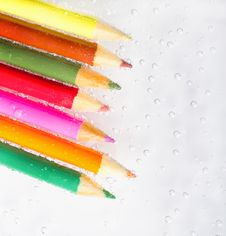 Free Colorful Pencils And Bubbles Stock Photo - 18213530