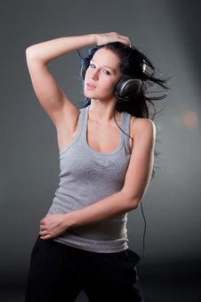 Free Girl Enjoys Music Stock Images - 18213734