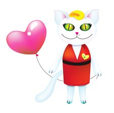Free Pretty Cat In Love Royalty Free Stock Photography - 18213797