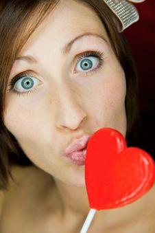 Free Girl Valentine Stock Photos - 18213843