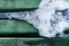 Free Ice Melting On Wood Texture Royalty Free Stock Photos - 18214288
