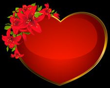 Red Heart Beautiful Flower Royalty Free Stock Photos