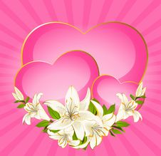 Free Red Heart Beautiful Flower Royalty Free Stock Photography - 18214917