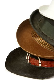 Brown Cowboy Hat Isolated On White Royalty Free Stock Image