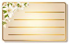 Free Abstract Visiting-card Stock Image - 18215071