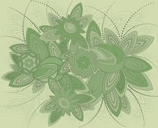 Free Background In Art Nouveau Style. Stock Photos - 18215253