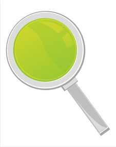 Free Magnifying Glass Isolated On White Royalty Free Stock Images - 18215269