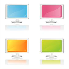 Free Colorful Monitors Stock Photography - 18215272