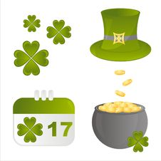 Free St. Patrick S Day Icons Royalty Free Stock Photo - 18215275