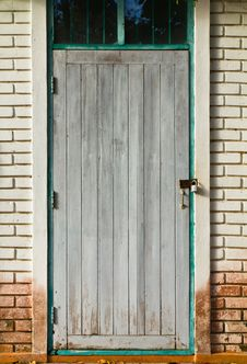 Gray Wooden Door Background Stock Photography