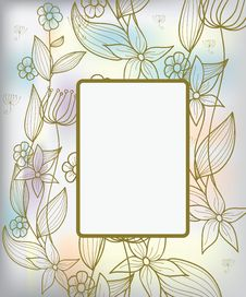 Free Background With Pastel Flowers Royalty Free Stock Photos - 18215358