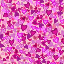 Free Valentine Seamless Hearts Pattern Royalty Free Stock Photo - 18215585