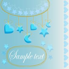 Free Baby Greeting Card Stock Image - 18215591