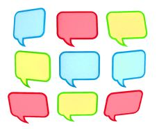 Free 3d Colored Speech Bubbles Stock Image - 18215991