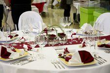 Free Wedding Table Royalty Free Stock Image - 18216636