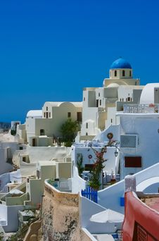 Free Colourful Oia Village Panorama Royalty Free Stock Images - 18217129