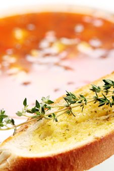 Free Toast With Oil And Thyme Stock Photos - 18217553