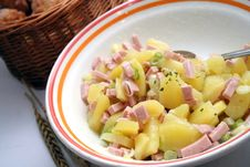 Free Fresh Salad Of Potatoes Stock Photos - 18217603