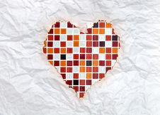 Free Red Mosaic Heart Royalty Free Stock Images - 18217979