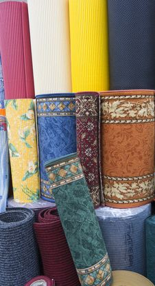 COLORED CARPETS Royalty Free Stock Photography