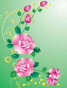 Free Abstract Background With Roses. Royalty Free Stock Photo - 18218045