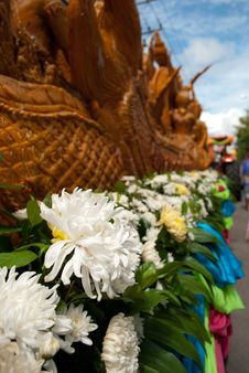 Native Thai  Candle Festival Stock Photography