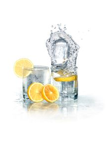 Cold Lemonade On White Royalty Free Stock Photo