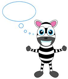 Free Cute Zebra In Thought Stock Photography - 18219092