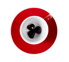 Free Red Cup On The Saucer Royalty Free Stock Photo - 18219815