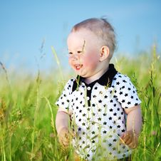 Free Boy In Grass Stock Photo - 18219850