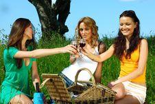 Free Girlfriends On Picnic Stock Photos - 18219963
