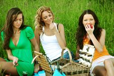 Free Girlfriends On Picnic Royalty Free Stock Images - 18219989