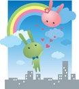 Free Rabbits Lover Stock Photo - 18222230