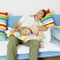 Free Couple On Sofa Royalty Free Stock Photography - 18223057