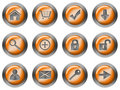 Free Web Round Buttons Orange Royalty Free Stock Photo - 18223845