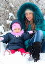 Free Mother And  Kid Having Fun Outdoors On  Winter Day Royalty Free Stock Photos - 18228048