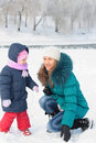 Free Mother And  Kid Having Fun Outdoors On  Winter Day Stock Images - 18228054