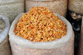 Free Sack Of Dried Shrimps Royalty Free Stock Image - 18229606