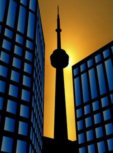 Free City Sunset Royalty Free Stock Image - 18220096
