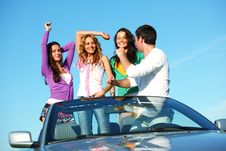 Joy In Cabriolet Stock Photography
