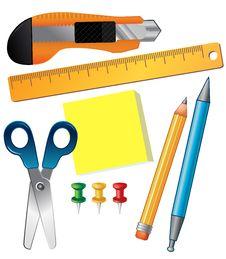 Free Set Of School Supplies Stock Photo - 18220720